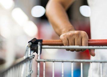 hands on shopping cart