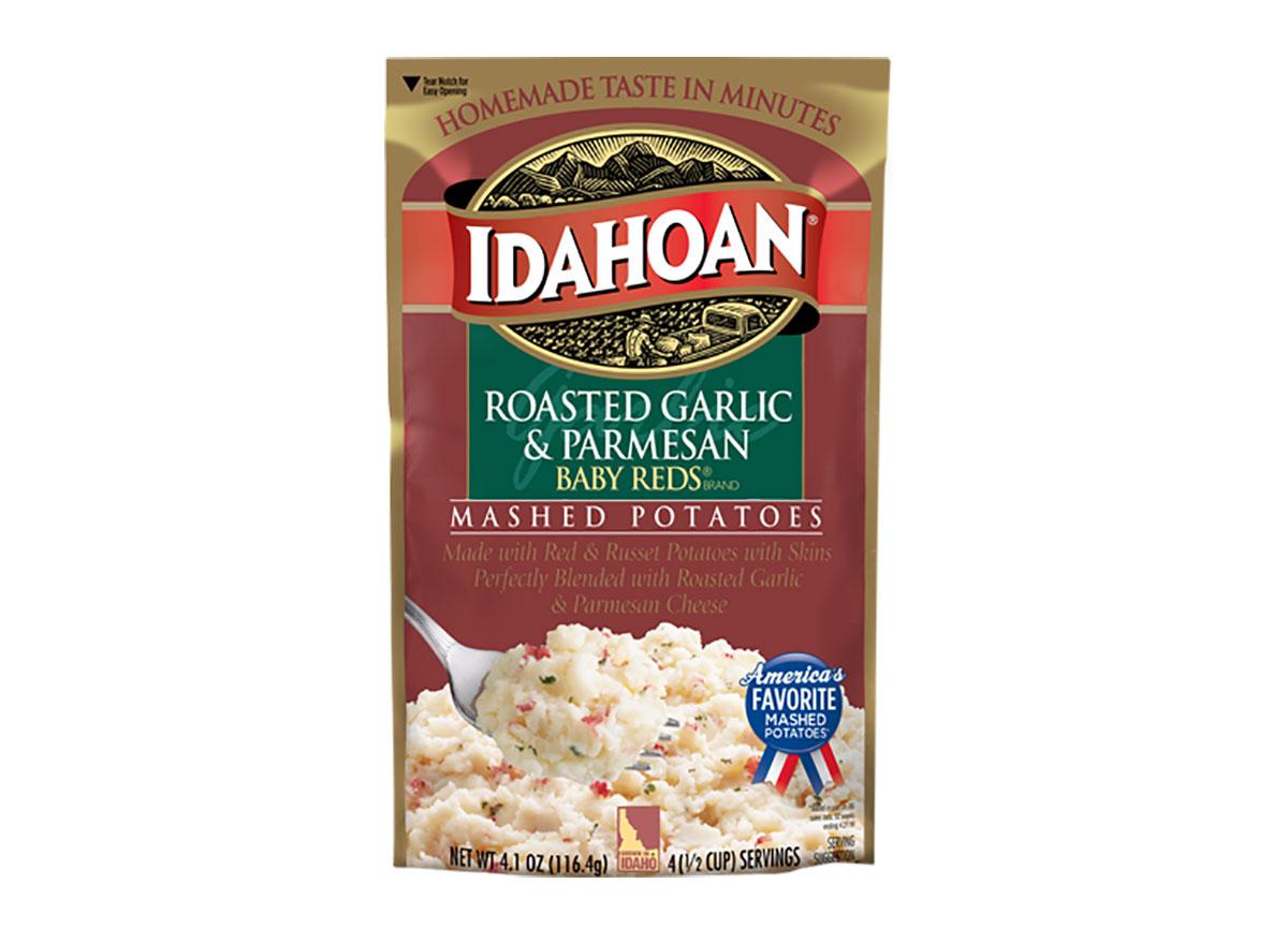 box of idahoan mashed potatoes