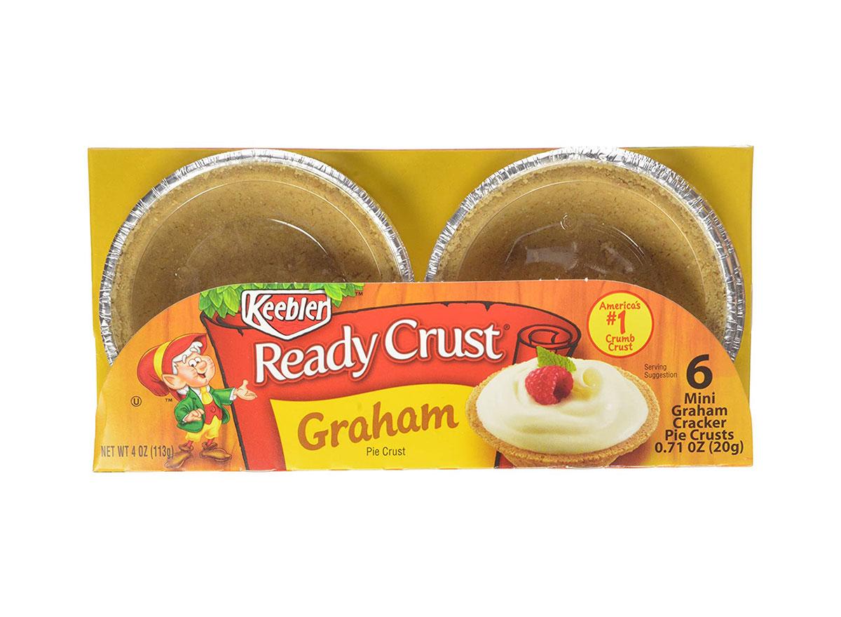 package of keebler mini graham cracker pie crusts