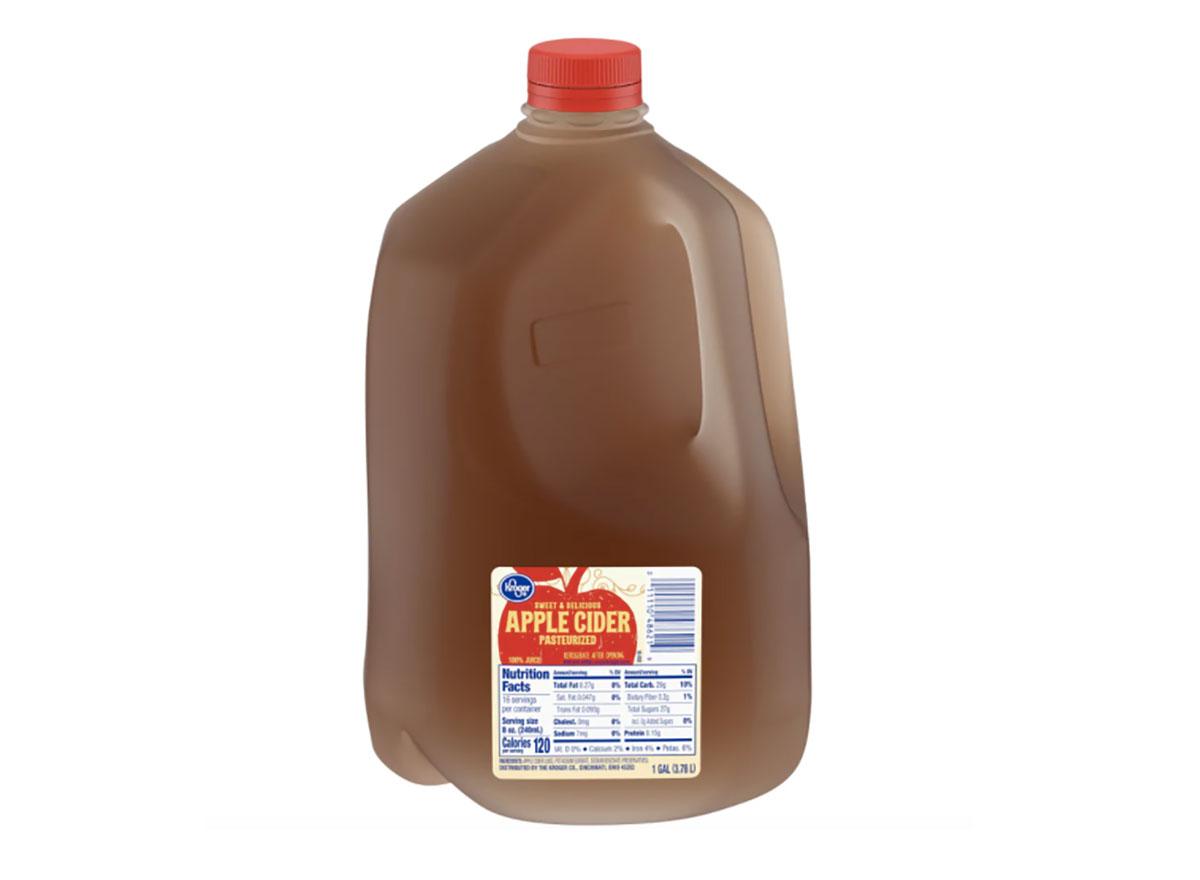 jug of kroger apple cider