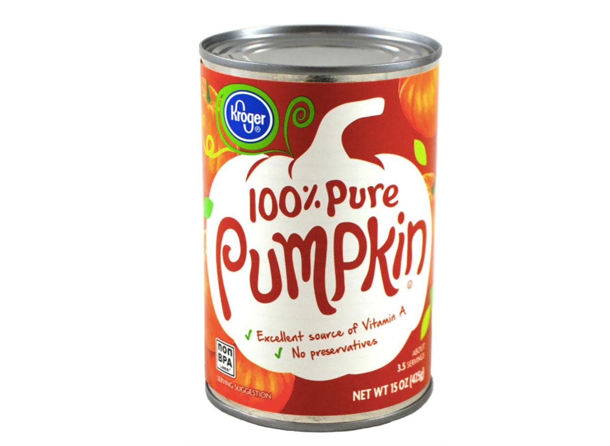 kroger canned pumpkin