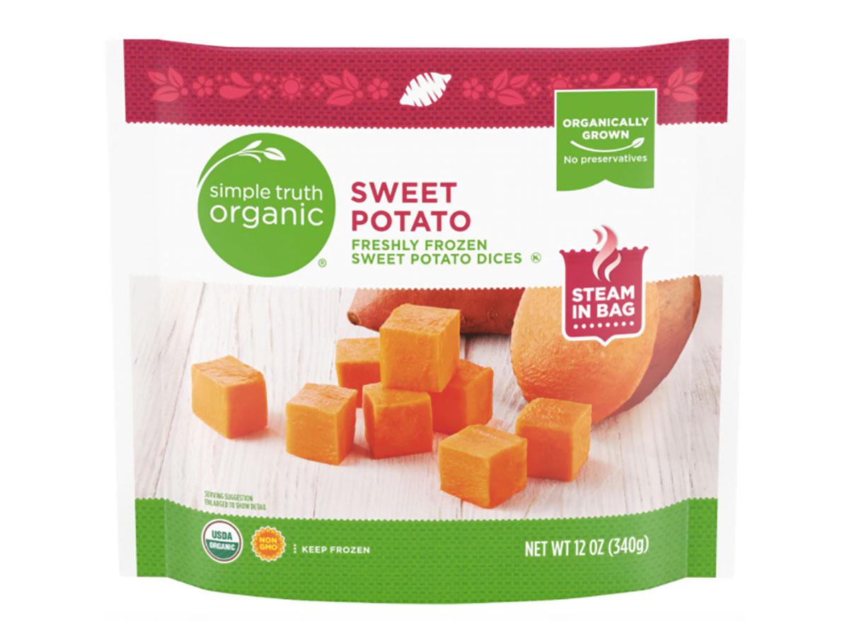 bag of frozen diced sweet potatoes from kroger