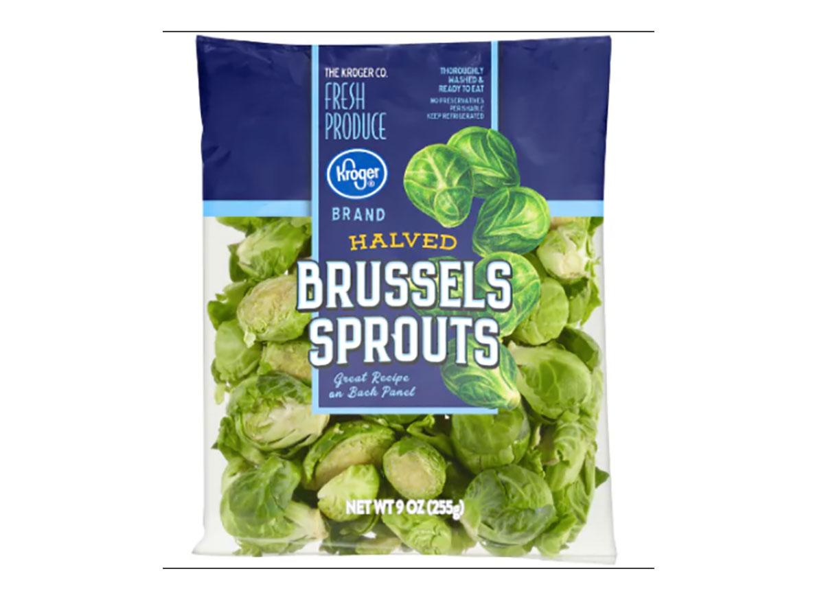 bag of kroger halved brussels sprouts