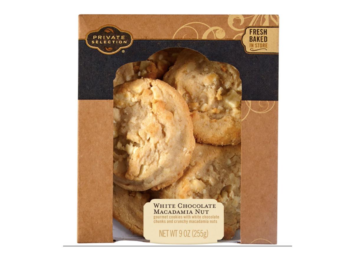 box of kroger white chocolate macadamia cookies
