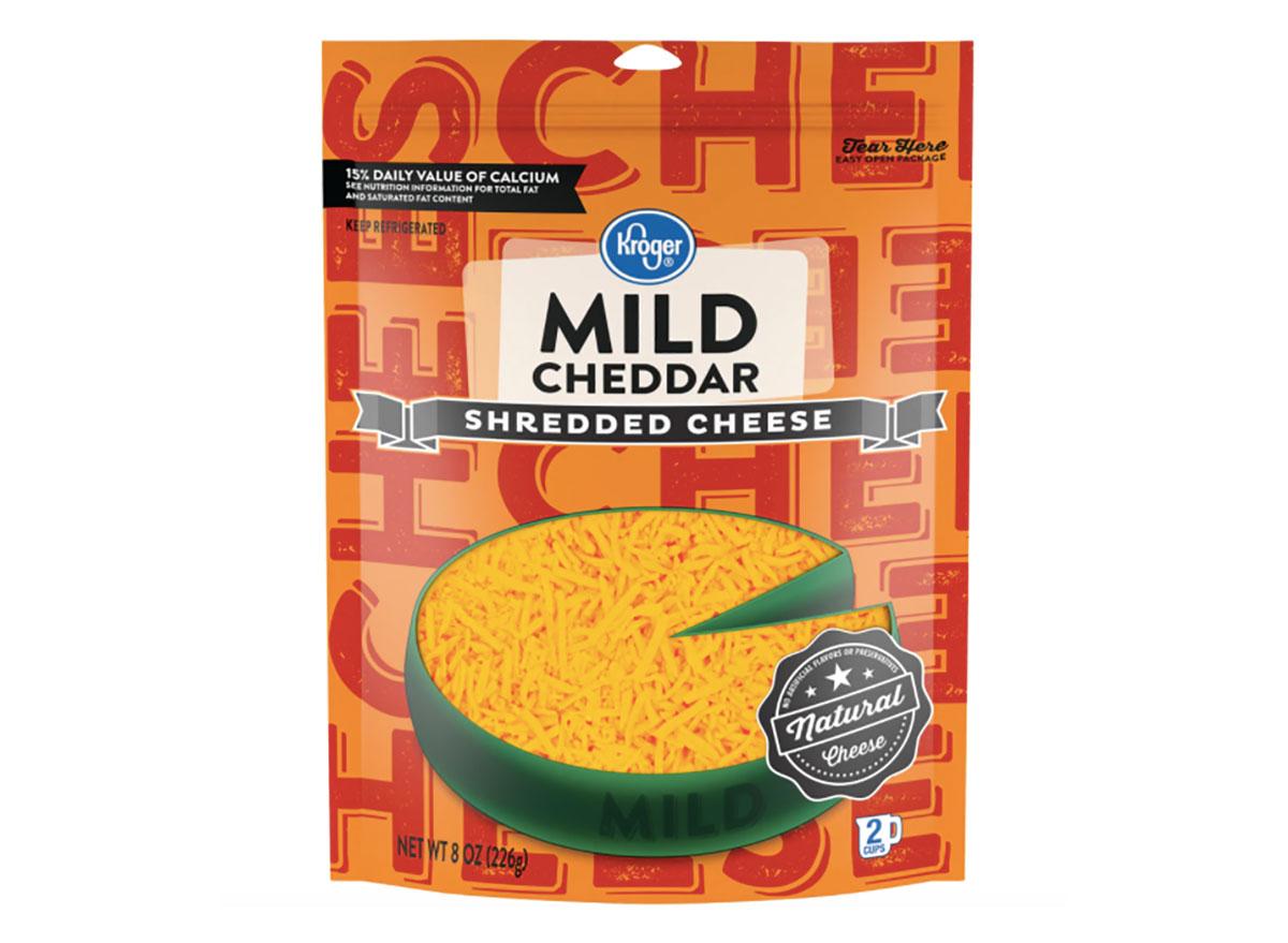 kroger shredded cheddar cheese