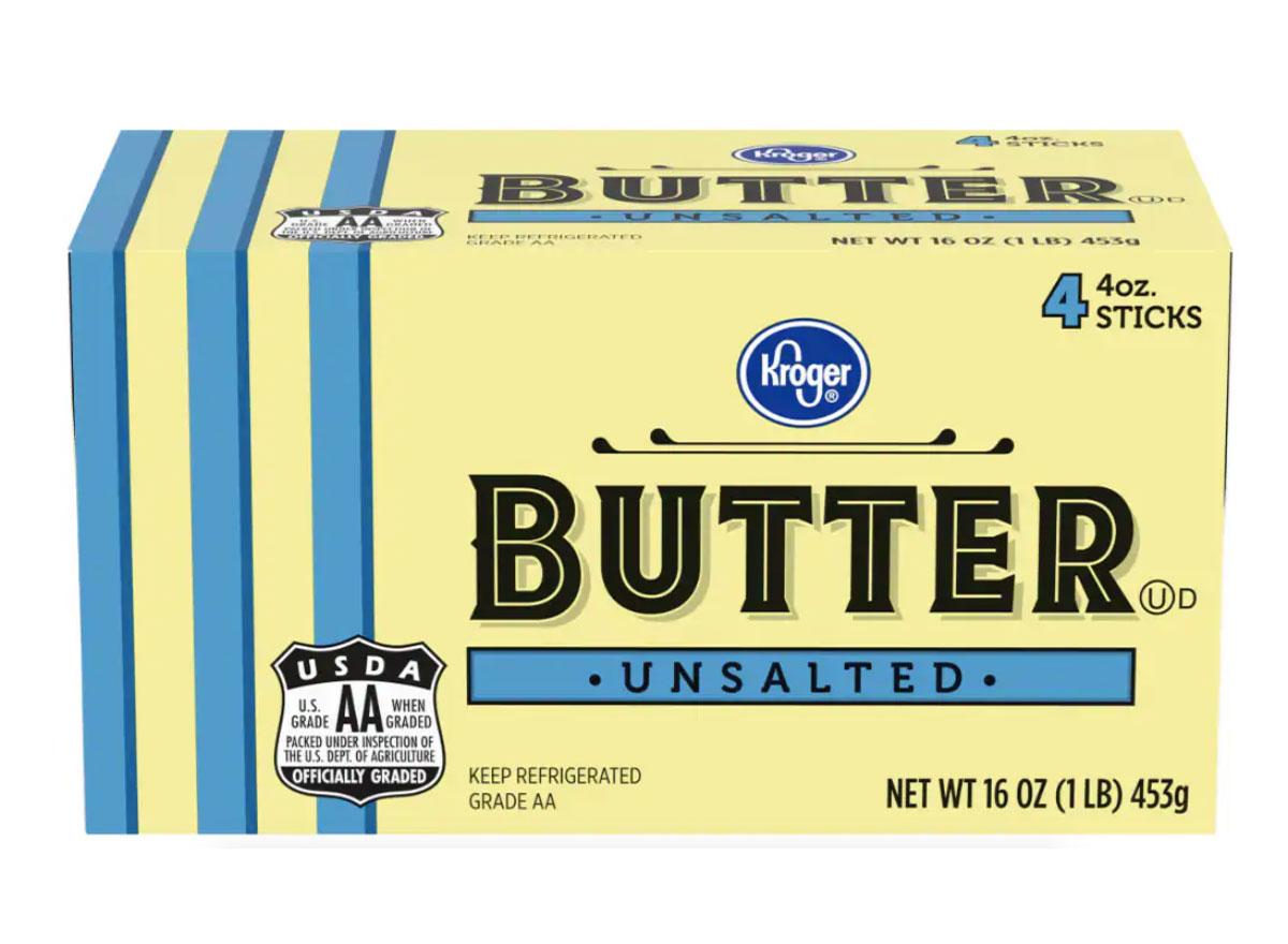 kroger unsalted butter sticks