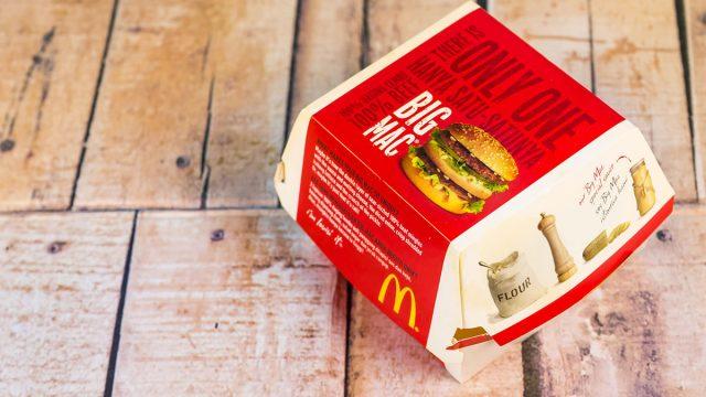 mcdonalds big mac box