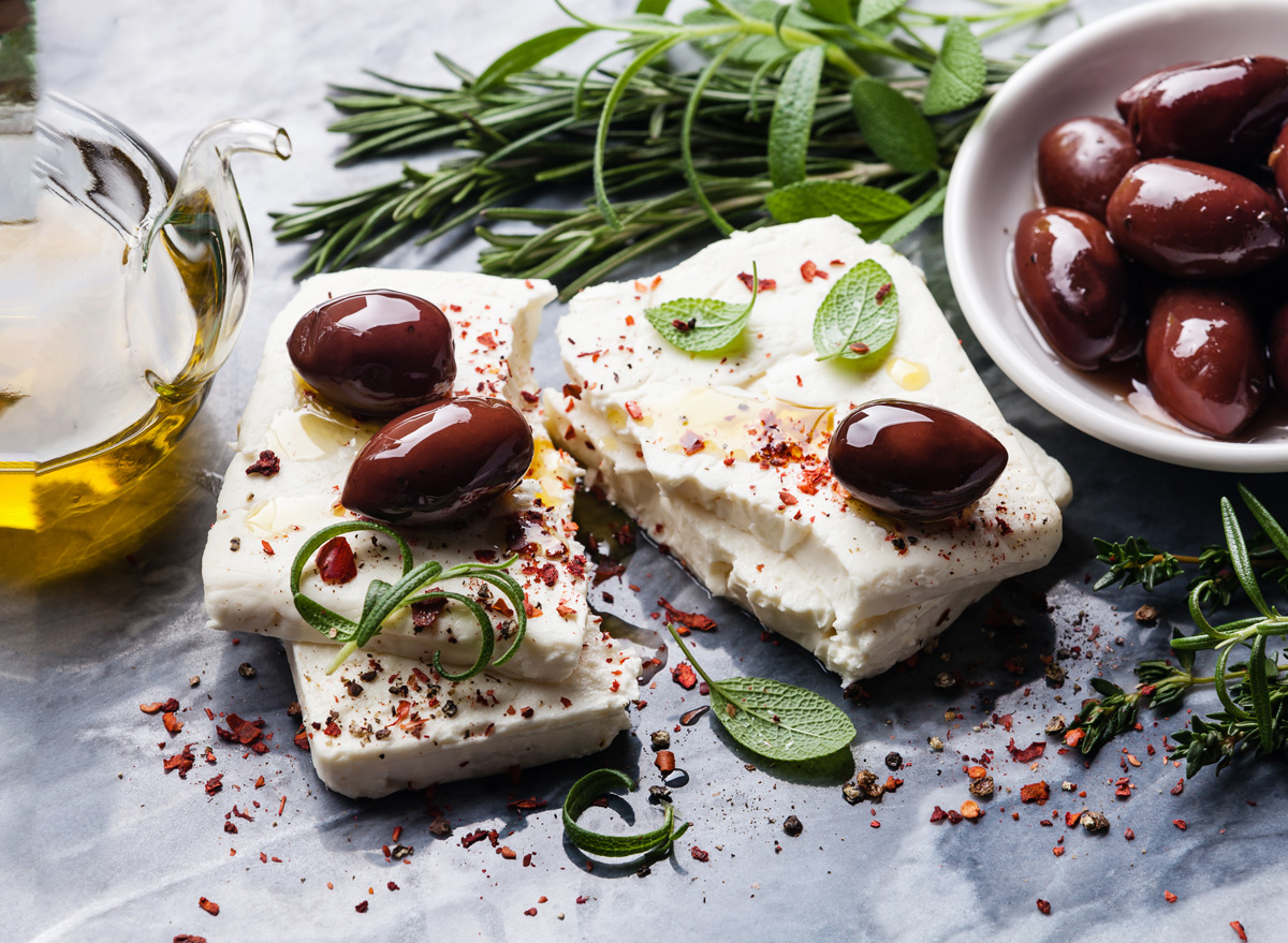 olives feta cheese