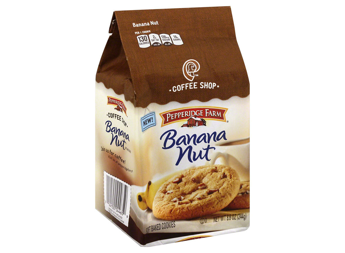package of peppermint farm banana nut cookies