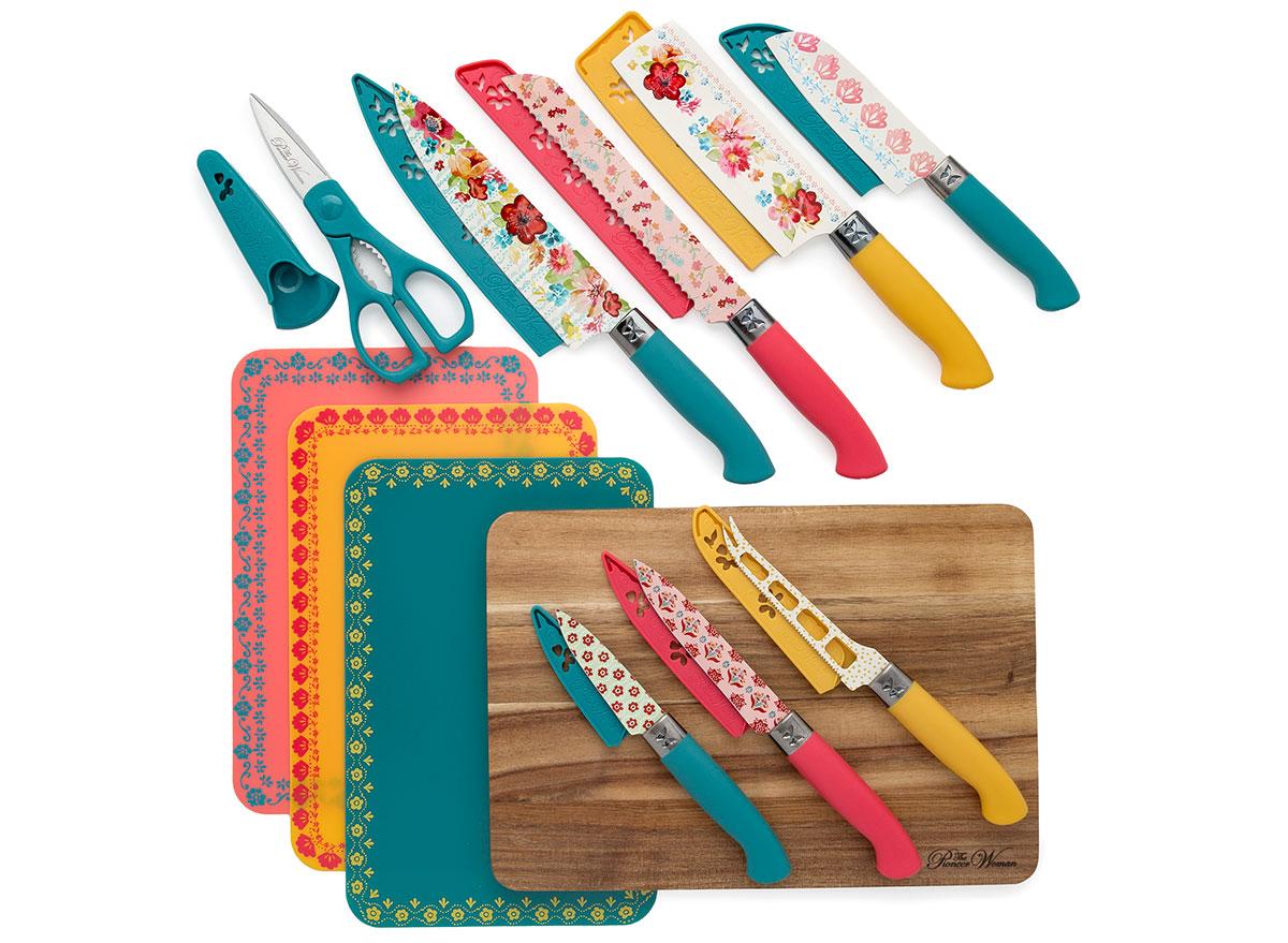 pioneer woman cutlery set
