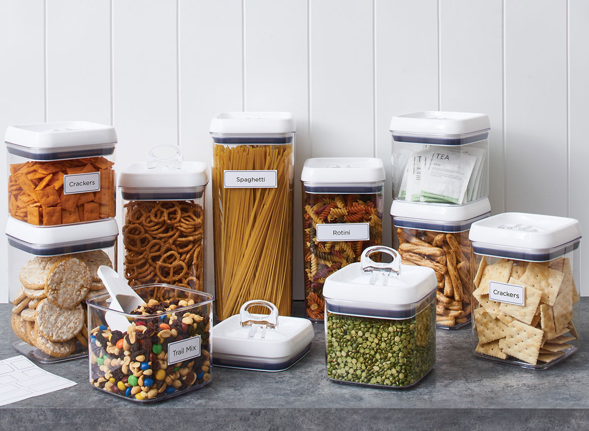 plastic canisters