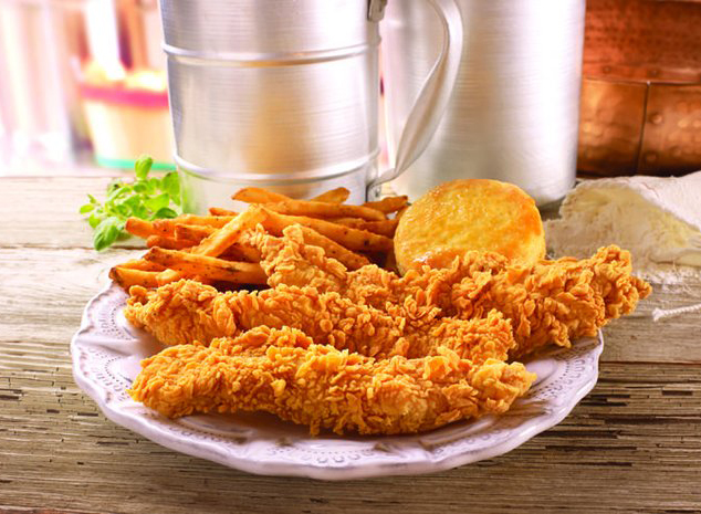 popeyes chicken tenders with fries and biscuit