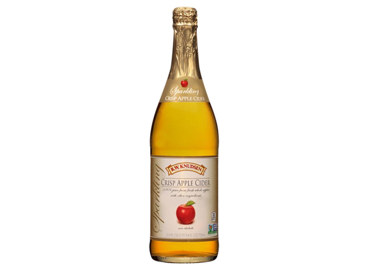 bottle of rw knudsen sparkling apple cider