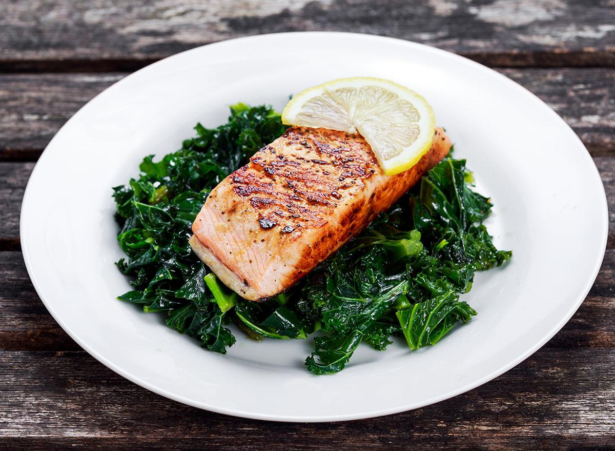 salmon kale dinner