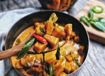 spicy curry with chili peppers