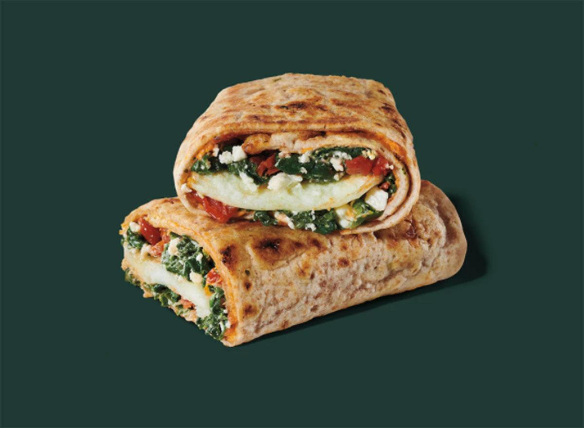 spinach feta egg wrap