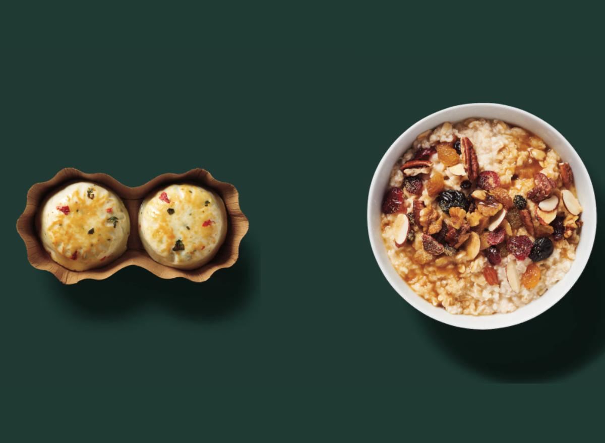 starbucks oatmeal and eggs