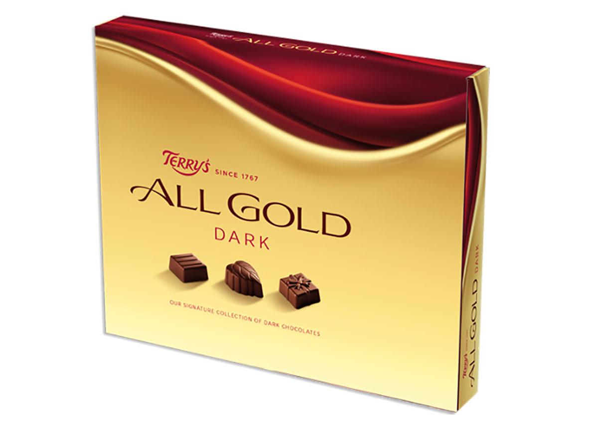 box of terrys all gold dark chocolates