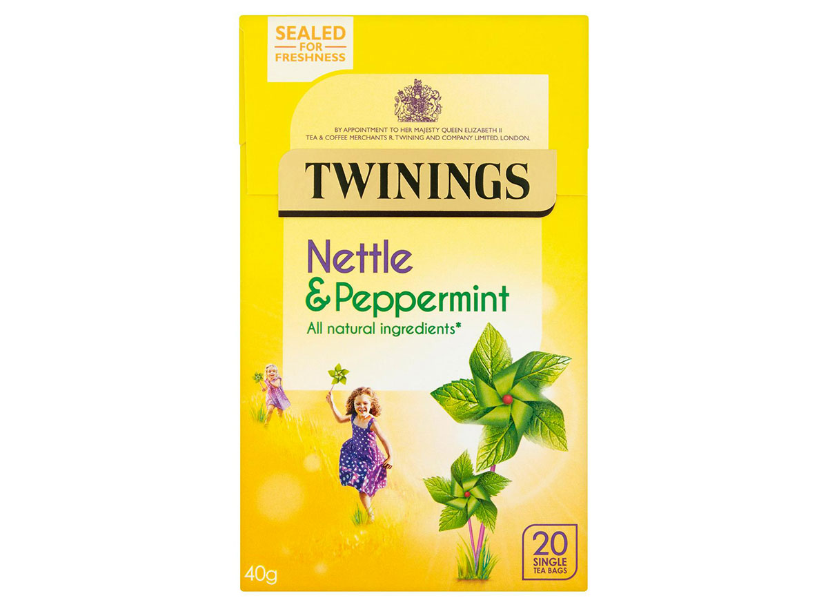 box of twinings nettle and peppermint tea