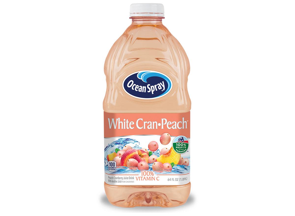 white cran peach ocean spray