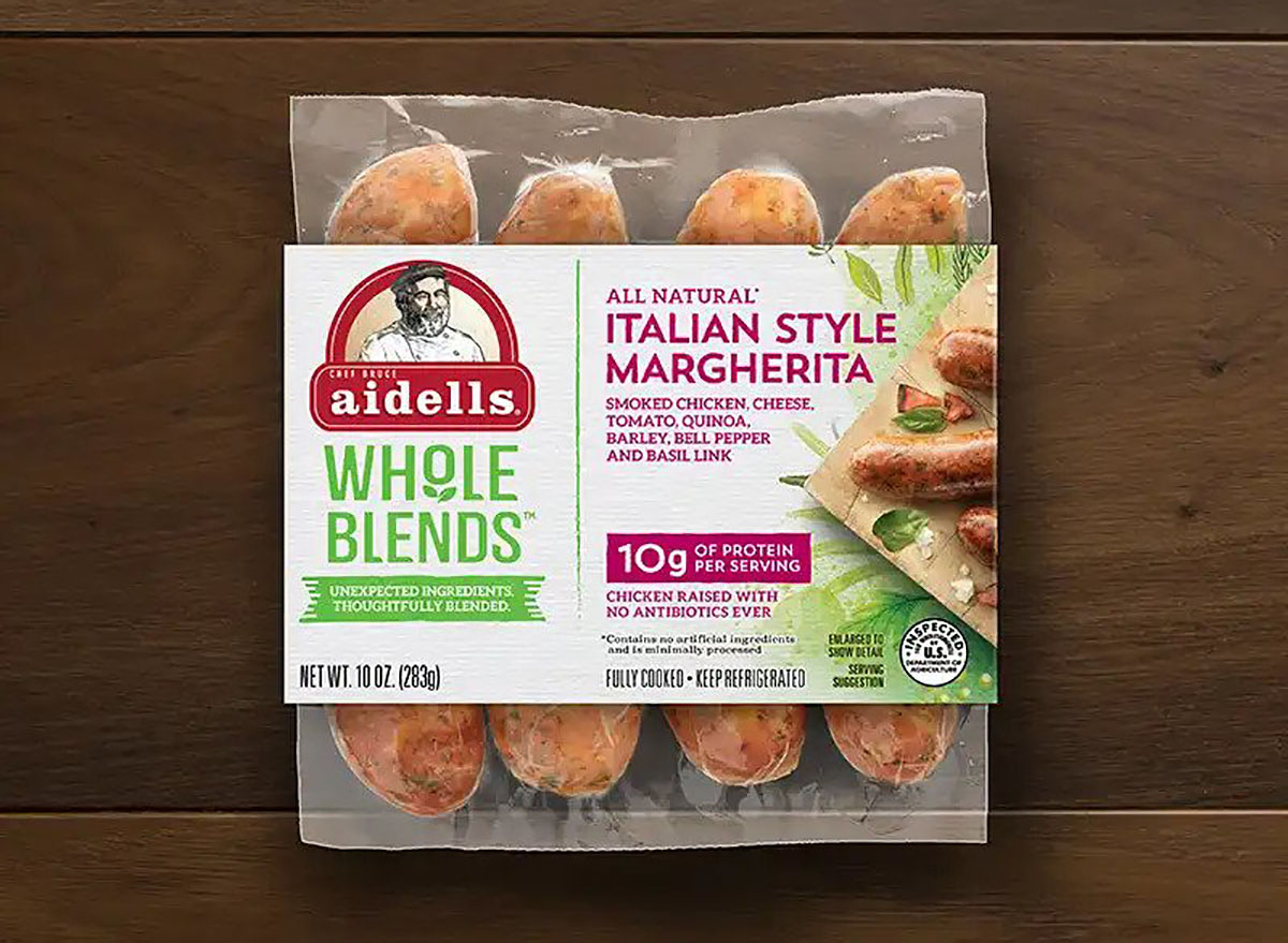 aidells whole blends italian style margherita chicken links