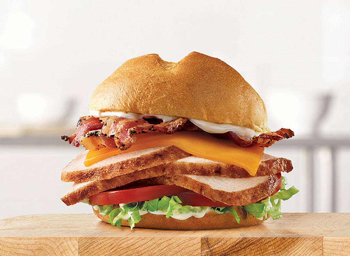arbys deep fried turkey club sandwich