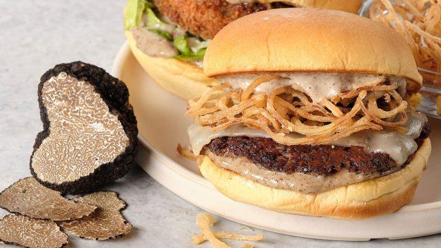 black truffle burger shake shack