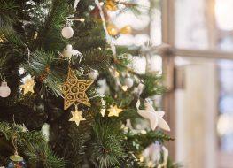 Detail of Christmas tree.