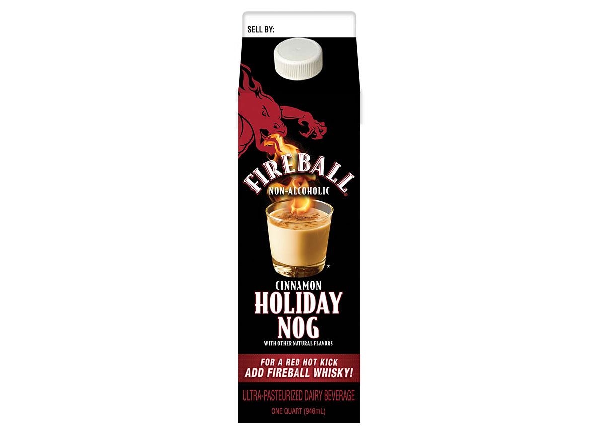 fireball holiday eggnog carton