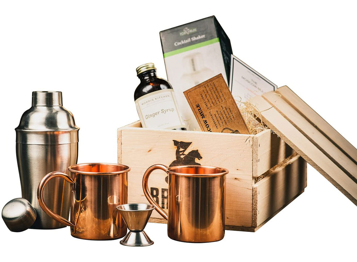 moscow mule cocktail set