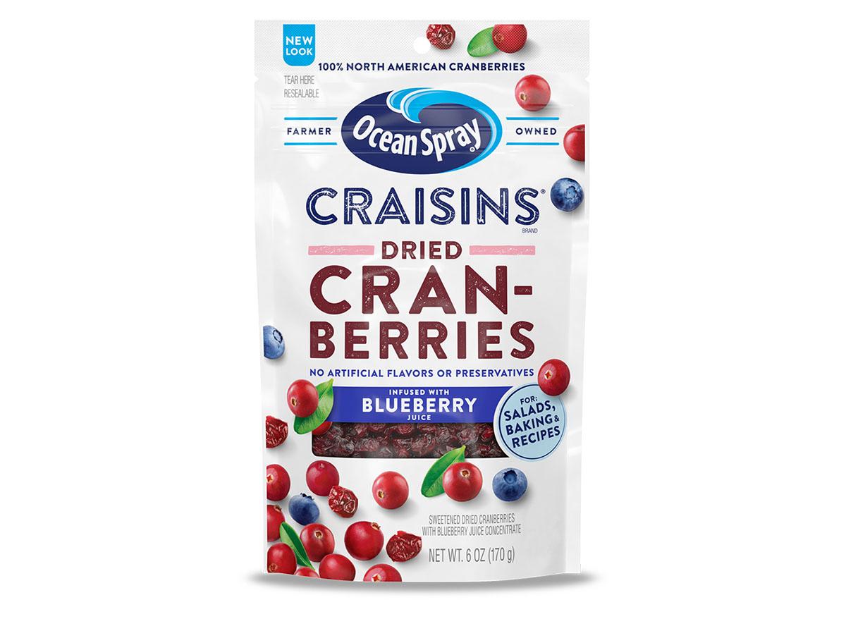 Ocean spray craisins blueberry juice infused
