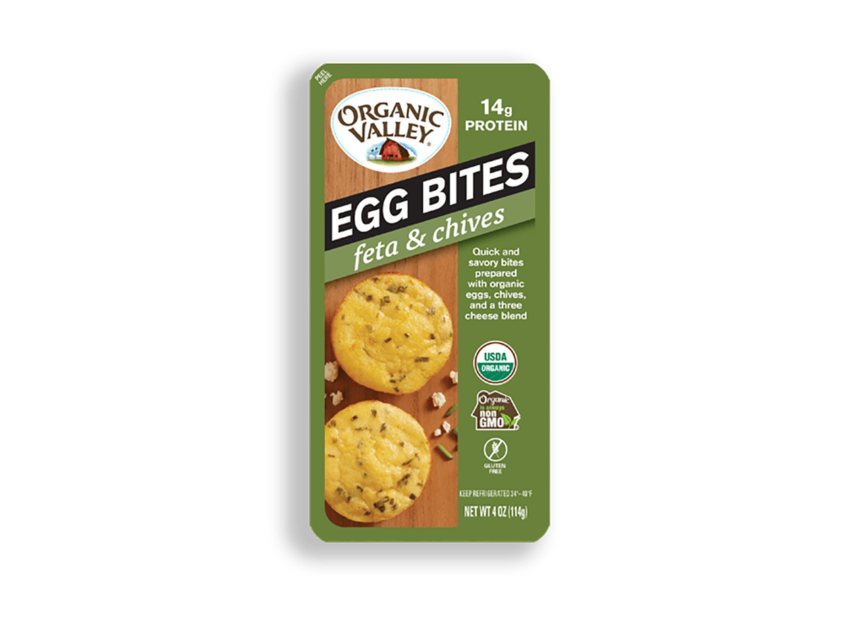 organic valley egg bites feta and chives