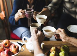 people drinking tea together