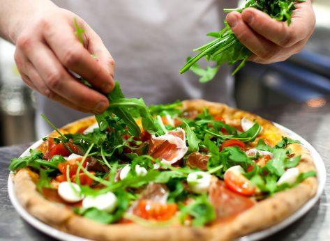pizza add greens