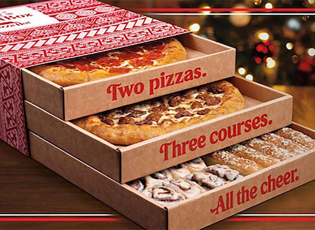 pizza hut triple threat box