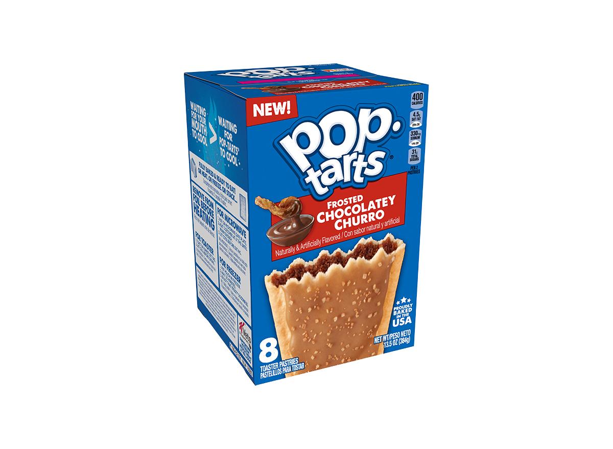 frosted chocolatey churro pop tarts