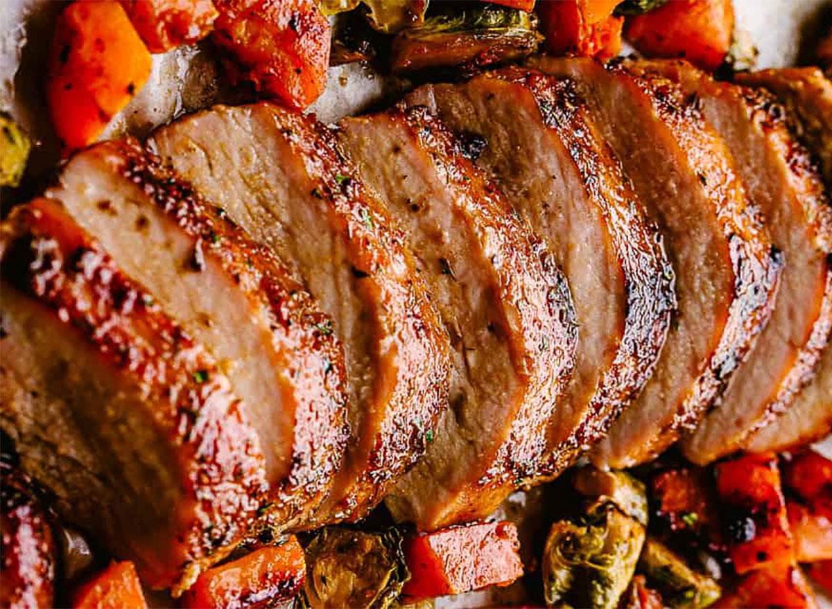 sliced pork loin roast