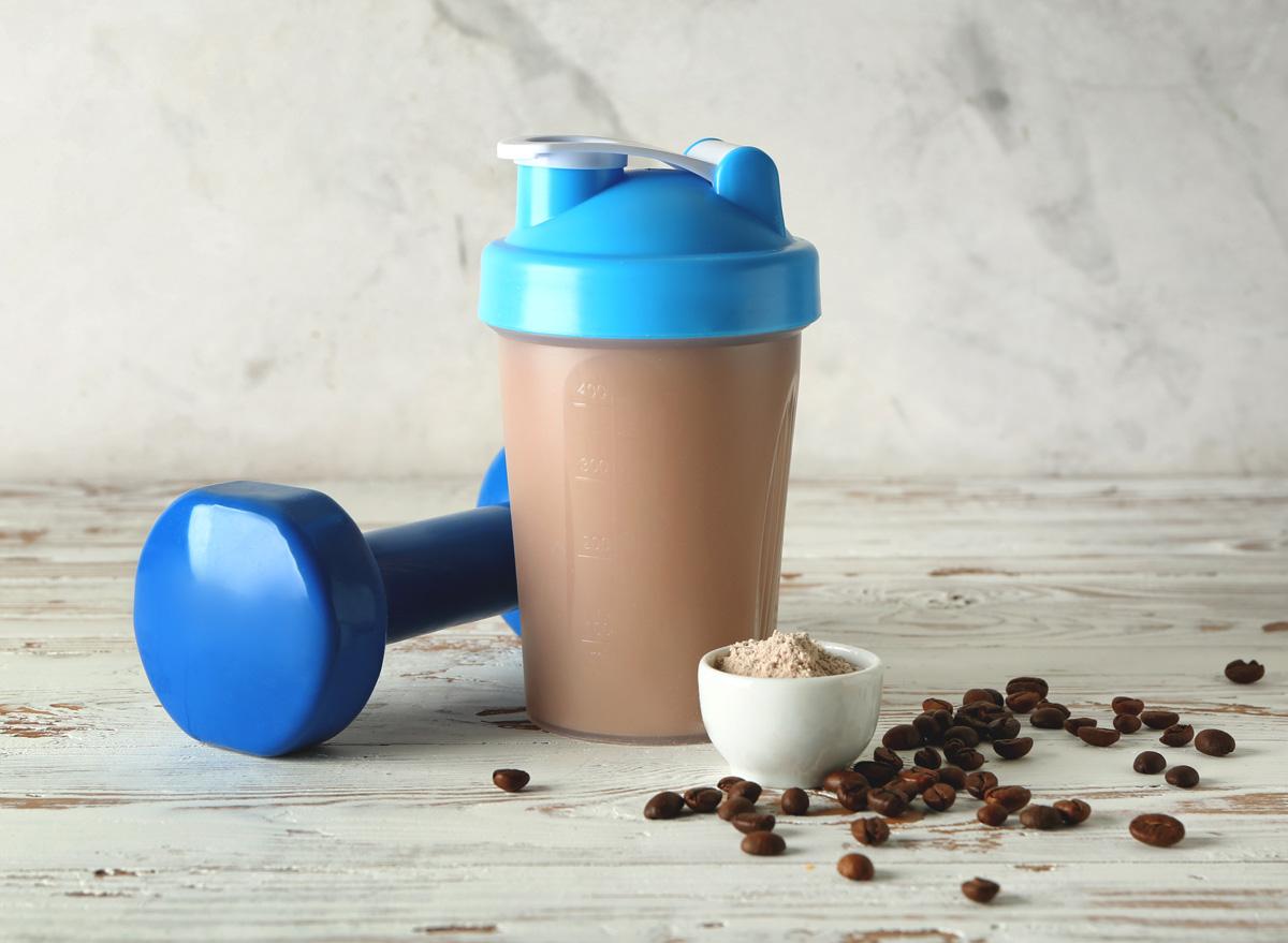 Protein coffee shaker bottle