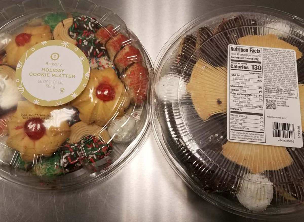 publix holiday cookie platters