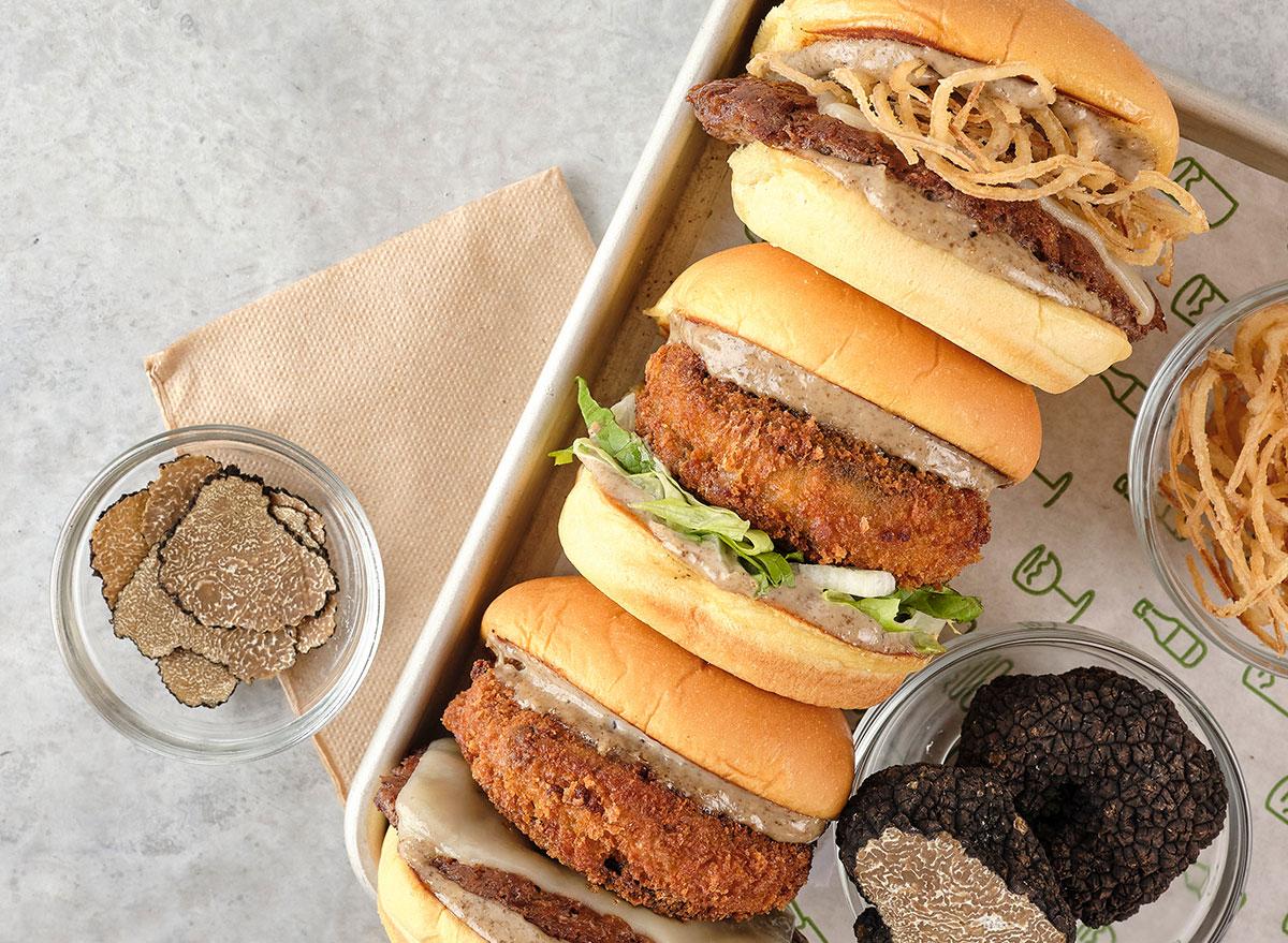 shake shack black truffle burgers