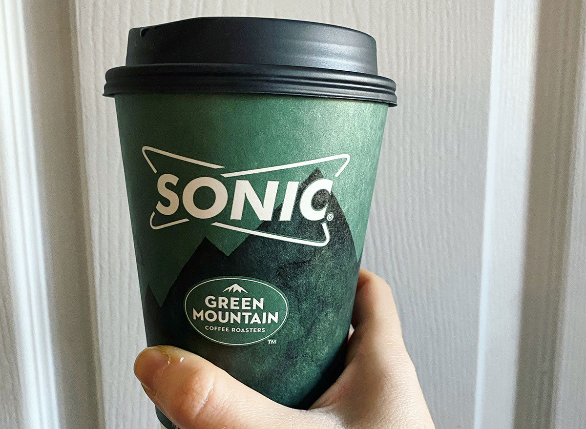 cup of coffee from sonic