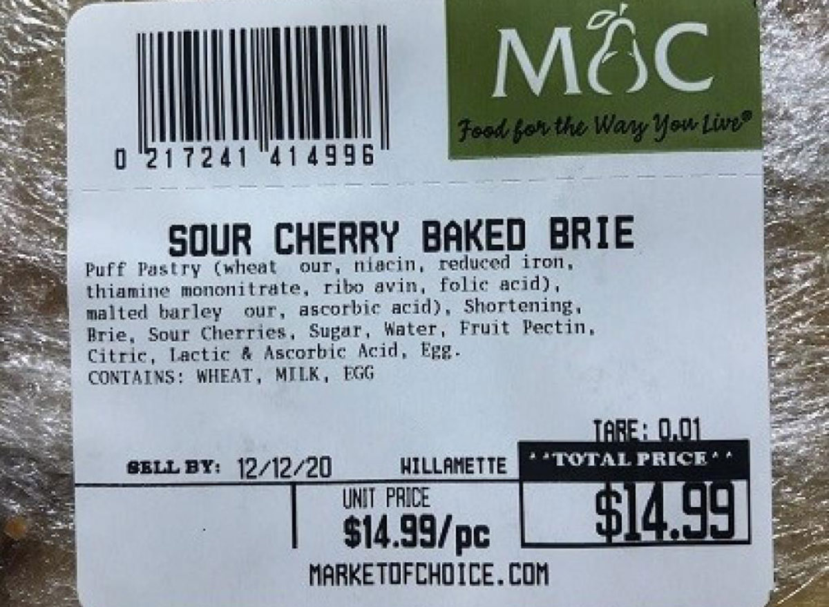 sour cherry baked brie