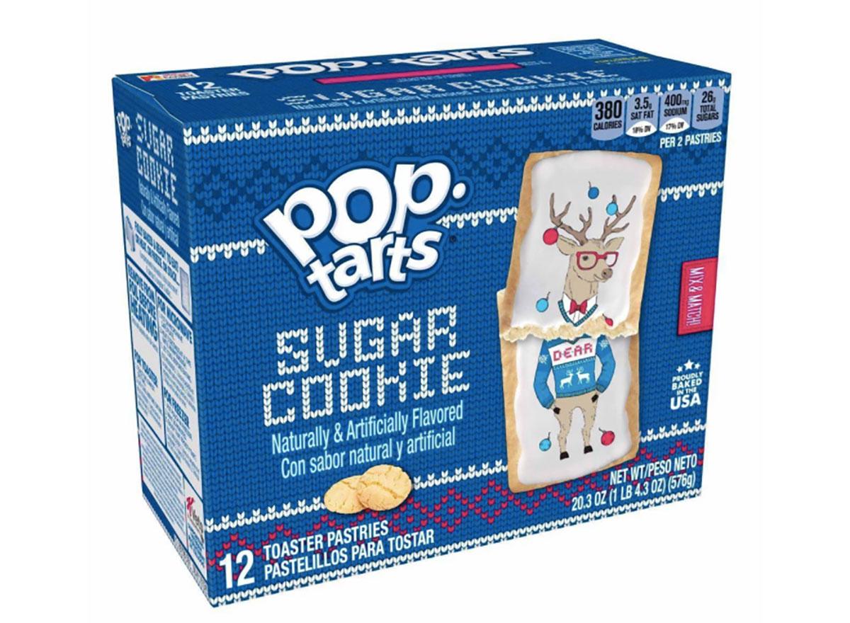 box of sugar cookie flavored pop tarts