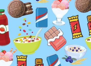 sugariest foods