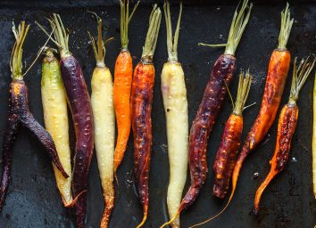 tricolor roasted carrots