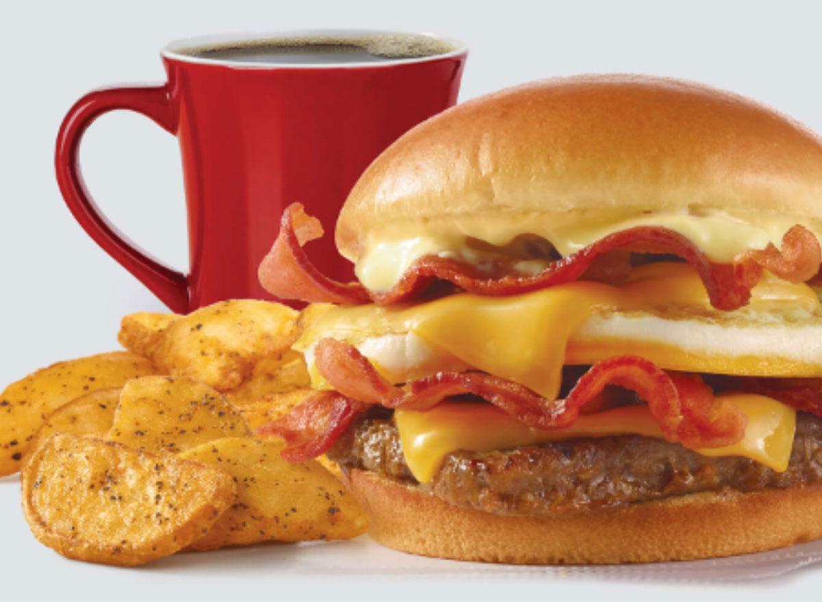 wendys baconator breakfast combo