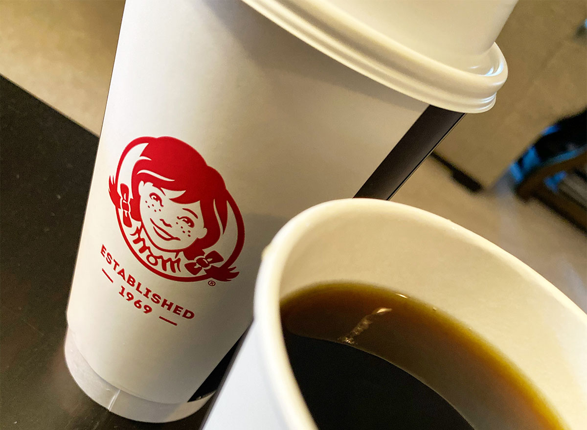 two cups of wendy's coffee