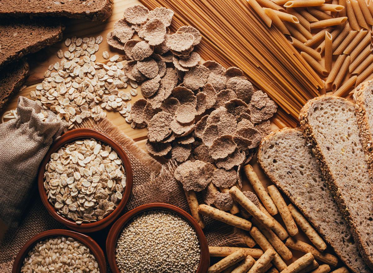whole wheat carbs, pasta, bread