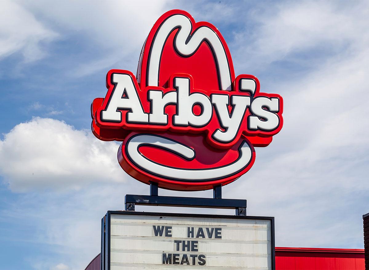 arbys sign on cloudy sky