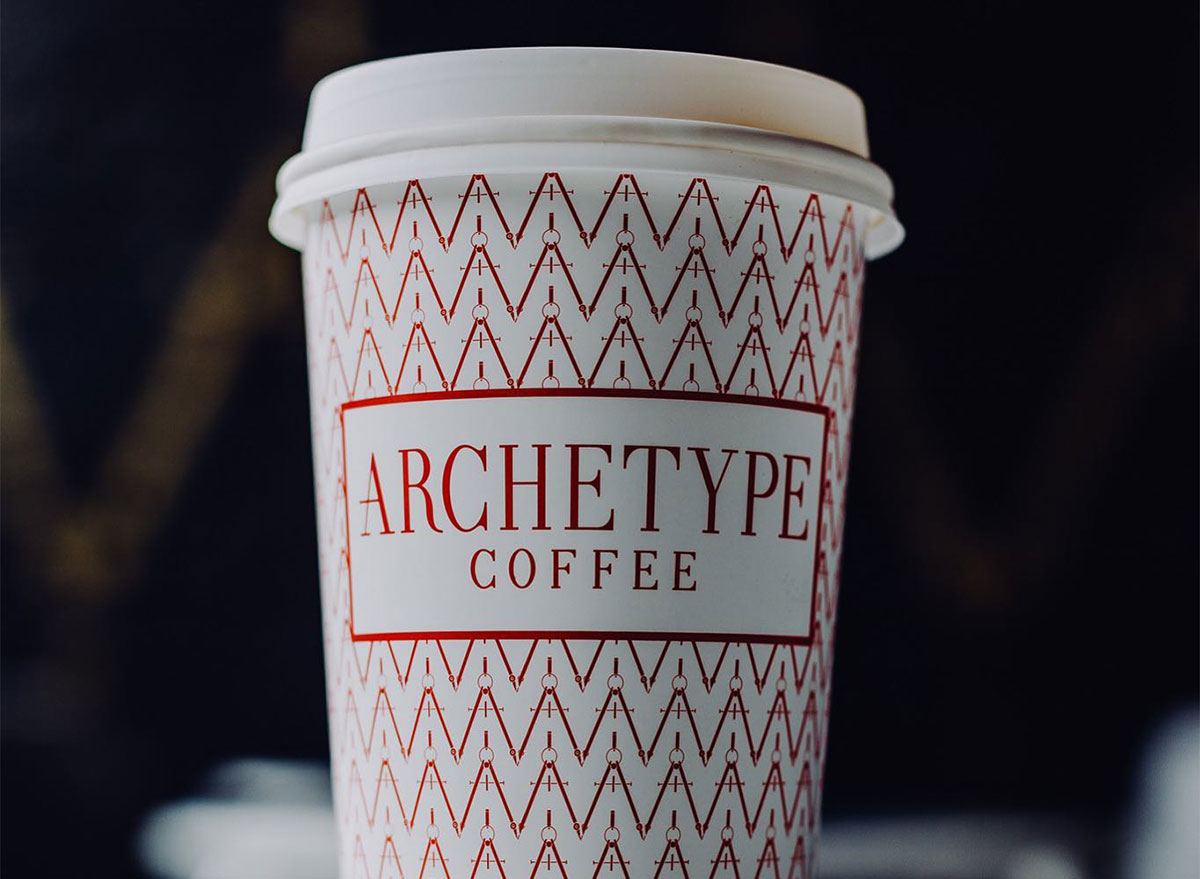 paper coffee cup from archetype coffee in omaha
